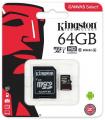 ALM KINGSTON TARJETA MICRO SD CON ADAP. 64GB CLASE 10 CANVAS SELECT