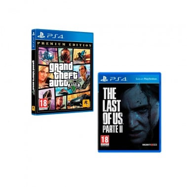 PS4 GTA V (PREMIUM EDITION) + PS4 THE LAST OF US II