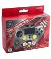 Funda Mando PS4 Hard Case + Grips + Led Decal WWE